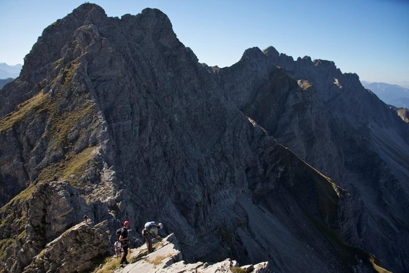 Hindelanger Klettersteig Ungesicherte Stellen : Hindelanger klettersteig tourendatenbank