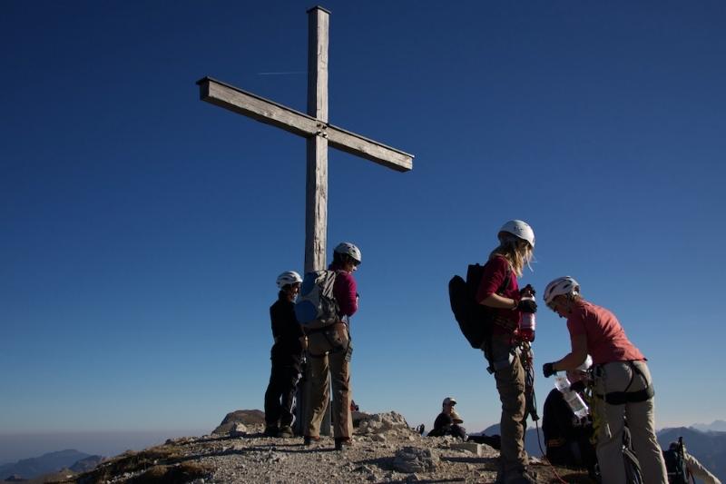 Hindelanger Klettersteig Ungesicherte Stellen : Mit kindern am klettersteig