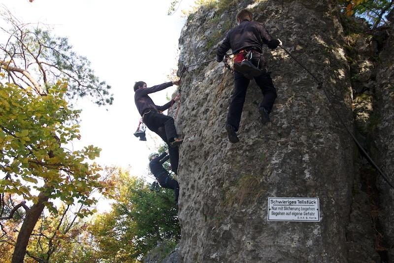 Klettersteig Höhenglücksteig : Klettersteige in bayern die top