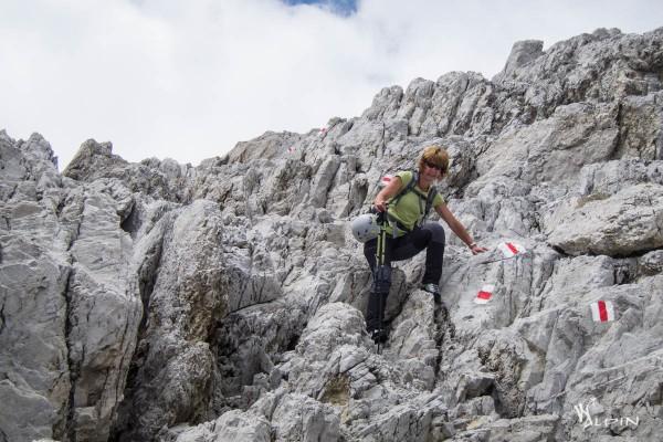 Klettern im Aufstieg und Abstieg